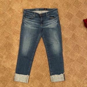 AG Slim Straight Cuffed/Cropped Jean